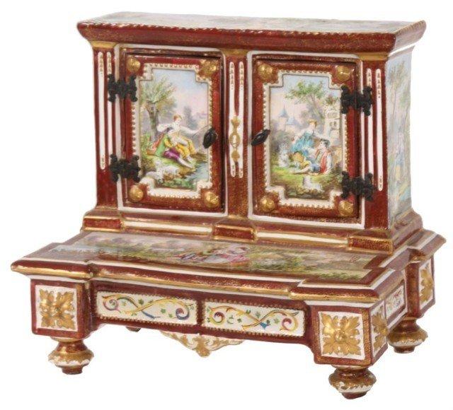 147: Rare 18th C. Decorated French Dresser Box