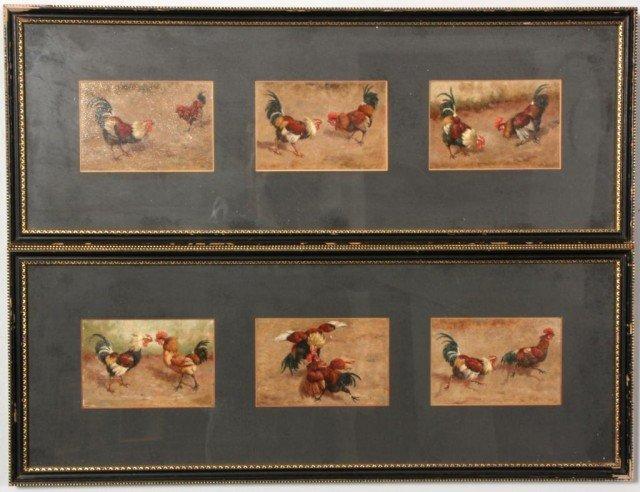 150: W.B. Baird O/P - Cockfight Sequence