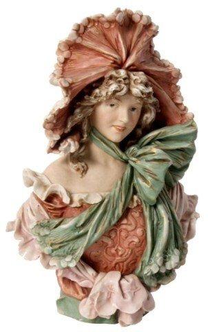 166: Royal Dux Figural Maiden Bust