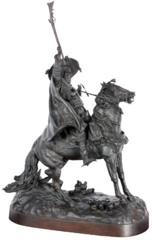182: Lanceray Russian Bronze On Horseback