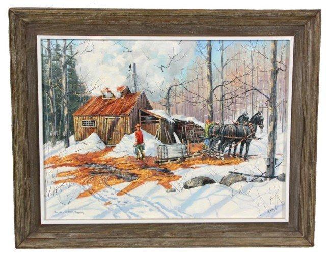 291: Samuel S Thorpe Jr. O/C Painting