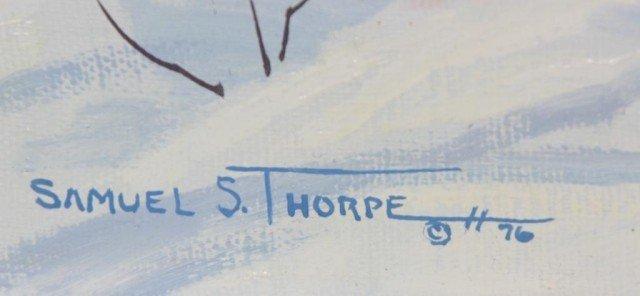 291: Samuel S Thorpe Jr. O/C Painting - 3