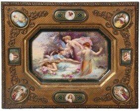 C.M. Hutschenreuther Framed Plaque