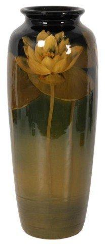 112: Rookwood Black Standard Glaze Vase