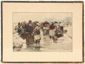 Hans Herrmann Watercolor Dutch Harbor