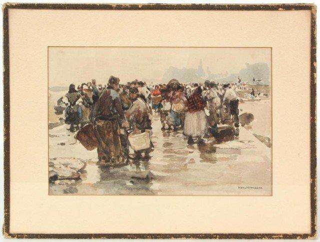 130: Hans Herrmann Watercolor Dutch Harbor