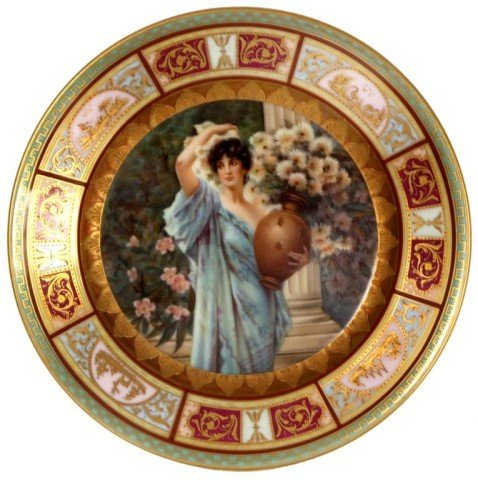 142: Royal Rudolstadt Vienna Portrait Plate