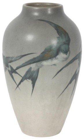 155: Rookwood Valentien Vase W/ Birds - 1905