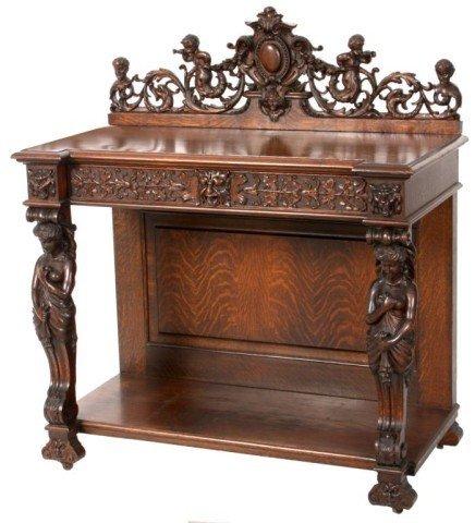 117: R.J. Horner Oak Carved Server