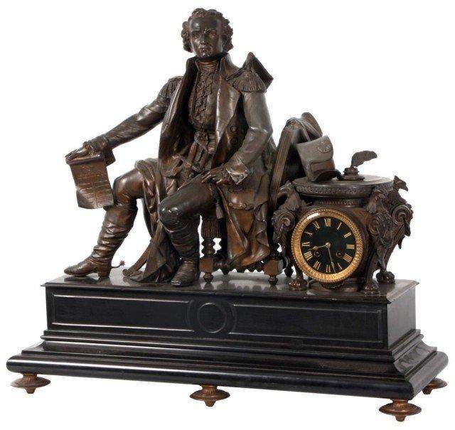133: George Washington Mantle Clock