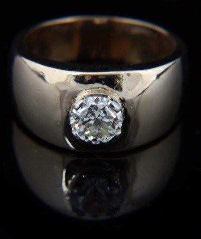 134: 14K Gold Men's 1.25 Carat Diamond Ring