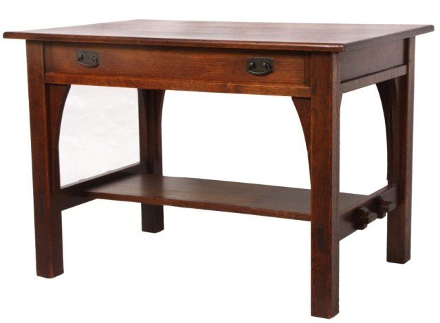 161: L & JG Stickley Single Dr Library Table