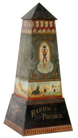 135: Baking Powder Advertising Tin Obelisk