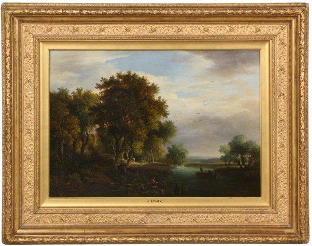 158: Signed J. Stark O/B Landscape