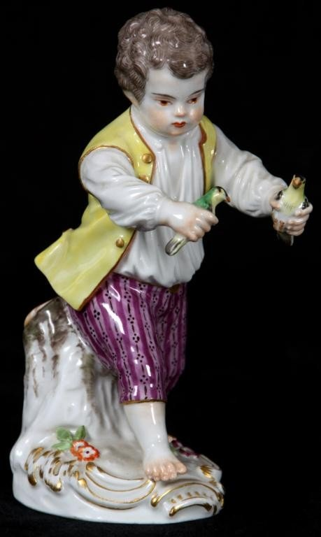 14: Meissen Painted Figure Of A Boy