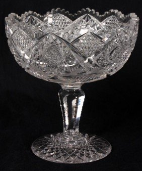 Large Cut Glass Compote