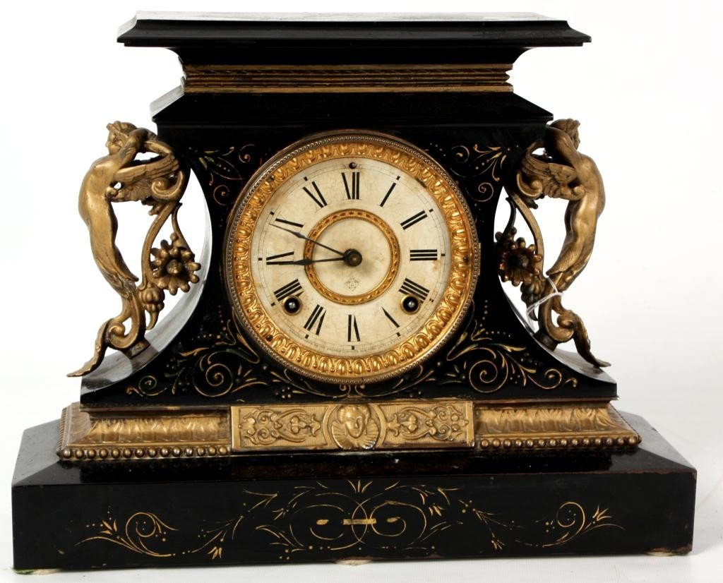 86: Ansonia Rosalind Iron Mantle Clock