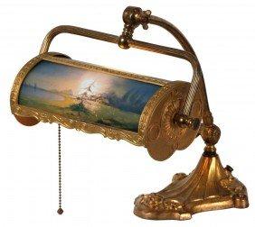 Pittsburgh Reverse Painted Desk Lamp