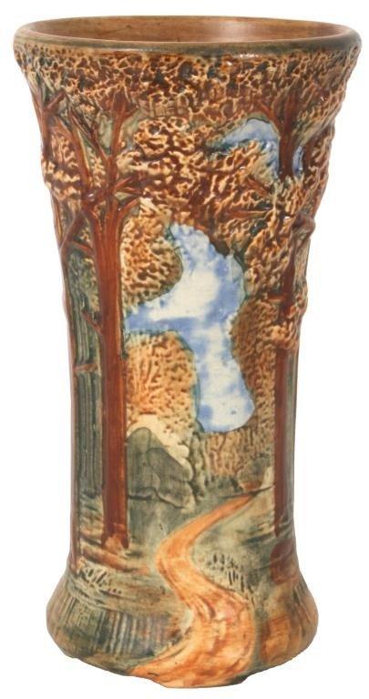 105: Weller Woodland Tall Vase