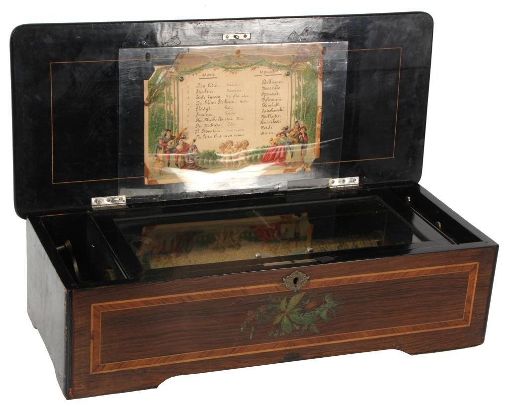 106: Inlaid Cylinder Music Box
