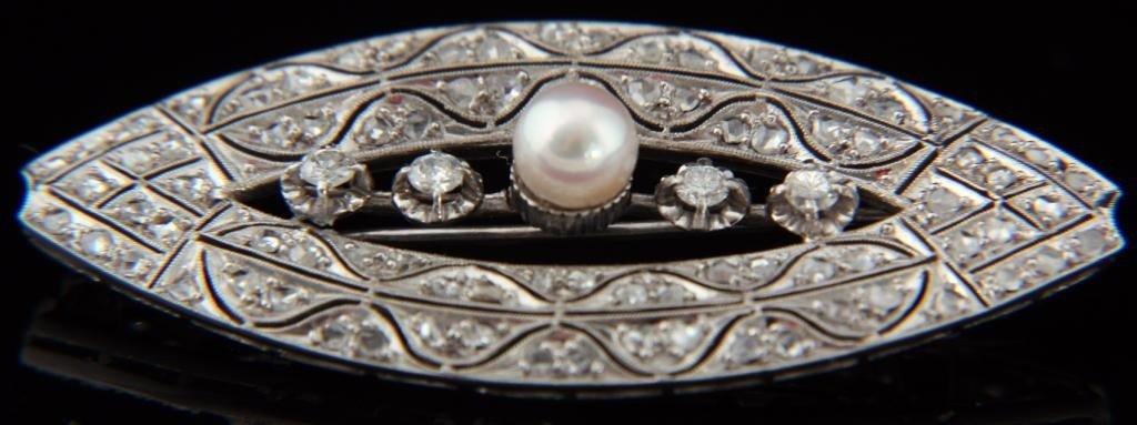 112: Platinum Diamond Pearl Pin