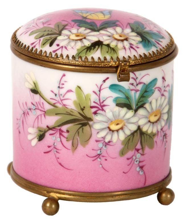 131: Enamel On Porcelain Dresser Box