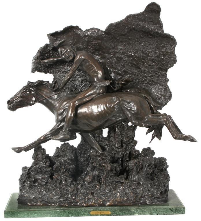 132: Remington Bronze Horsethief - Recast