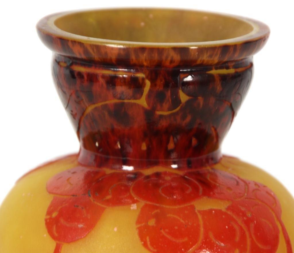 344: Schneider Groseilles Cameo Vase - 3