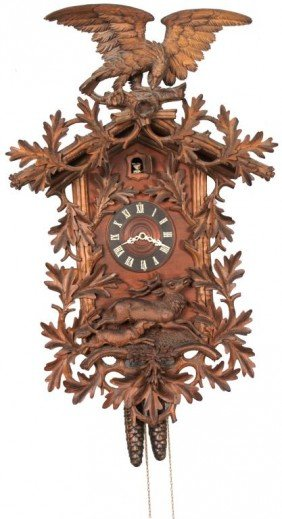 Carved Black Forest Cuckoo Clock