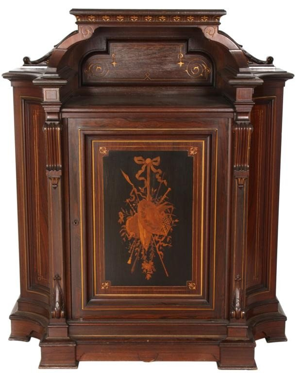 98: Rosewood Renaissance Revival Credenza