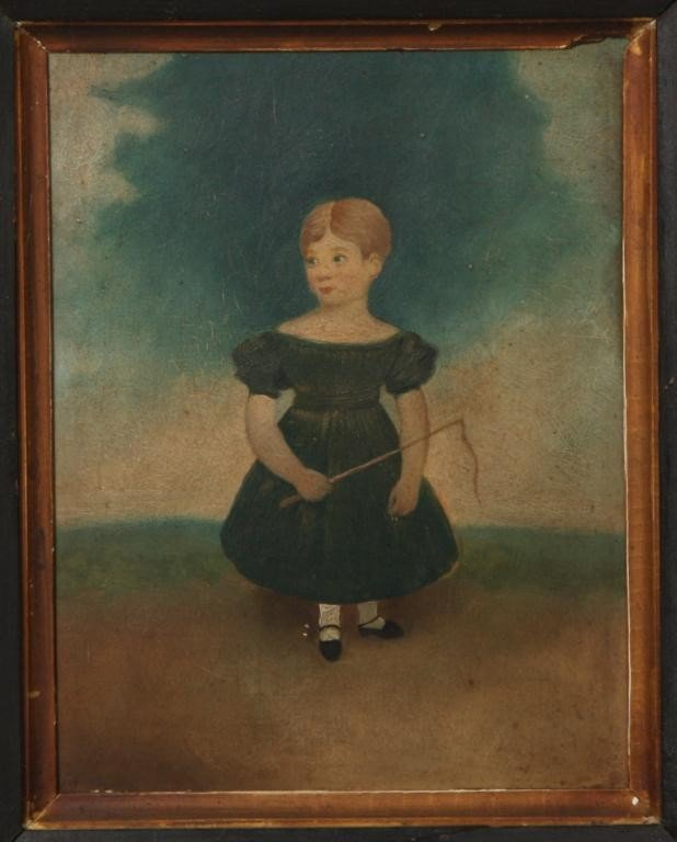 126: Primitive Folk Painting of Girl - 7