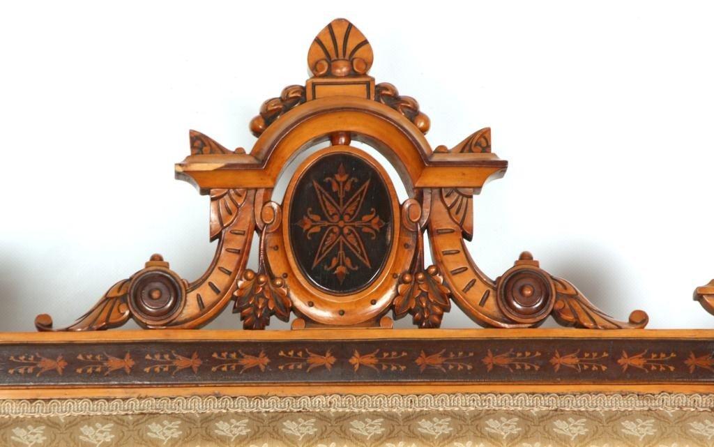 204: 5 Pc. Inlaid Renaissance Revival Parlor Set - 5