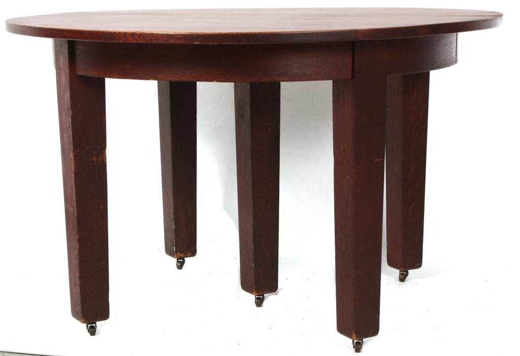 211: Gustav Stickley No. 632 Dining Table - 10