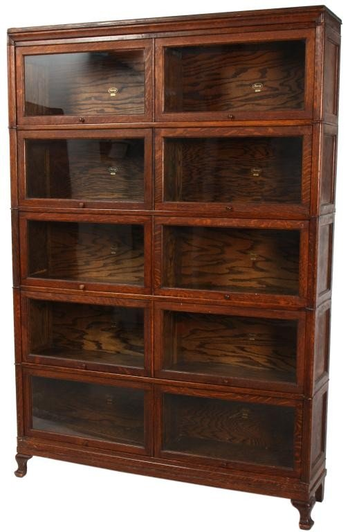 23: Oak Macey Double Stacker Bookcase