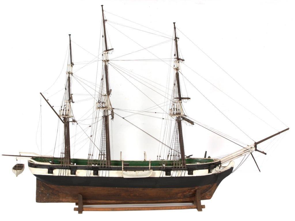118: 19th C. Man O War Model Ship