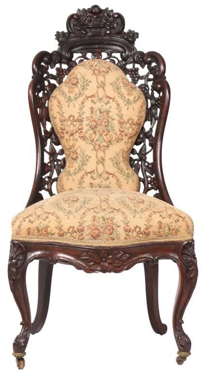 127: J.H. Belter Laminated Rosewood Sidechair