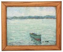 199: Harry Pfeiffer Oil Painting Costal Landscape