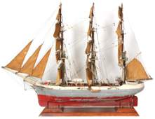212 20th C Steel Hulled Model Ship