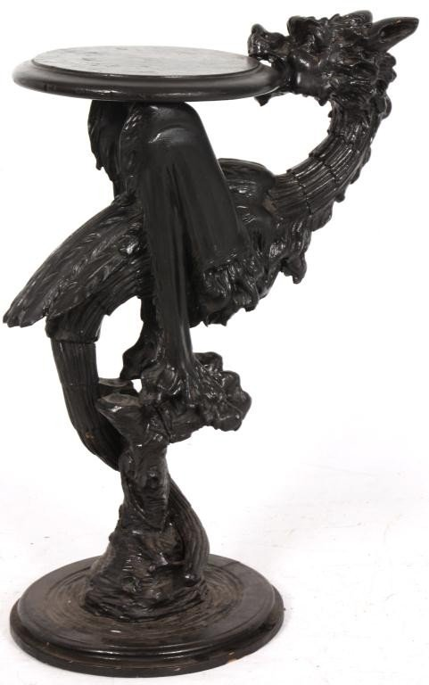 338: Figural Carved Fantasy Griffin Pedestal