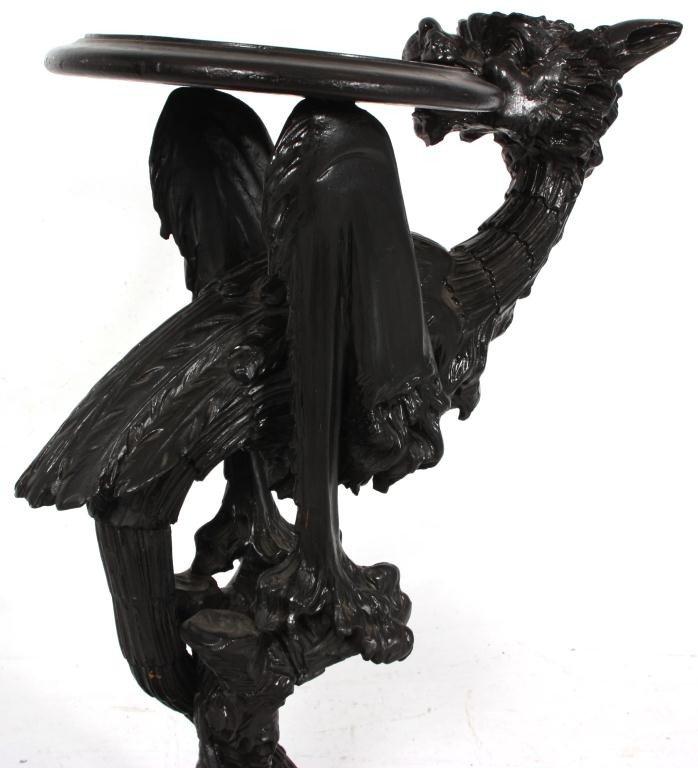 338: Figural Carved Fantasy Griffin Pedestal - 4