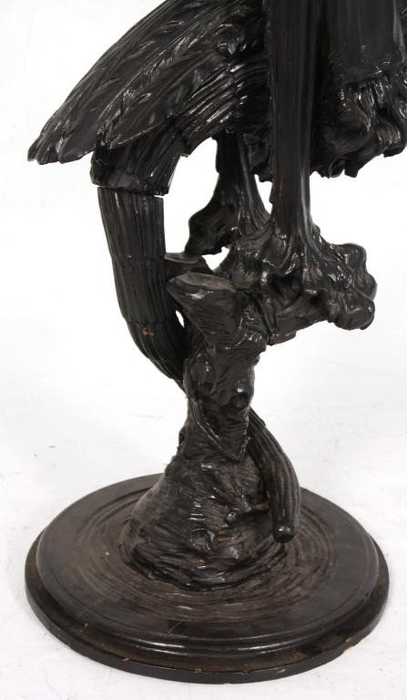 338: Figural Carved Fantasy Griffin Pedestal - 5