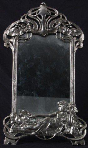 Art Nouveau Style Mirror Signed WMF