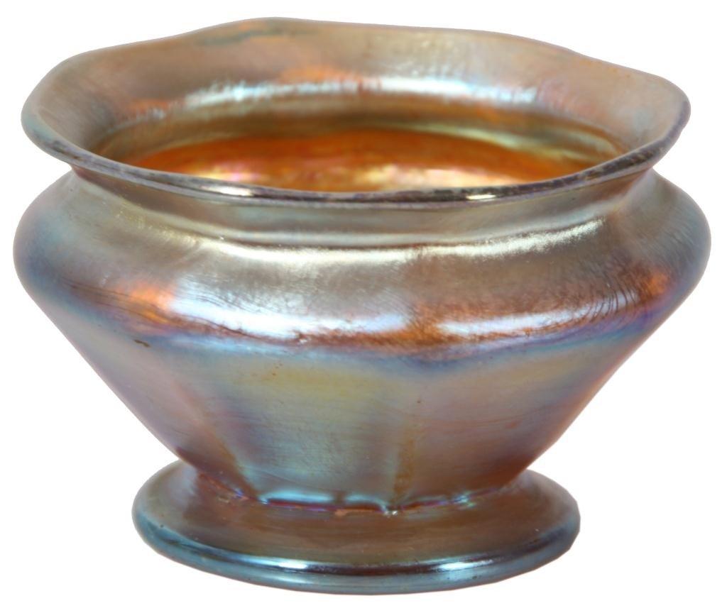 111: Tiffany Iridescent Cabinet Bowl