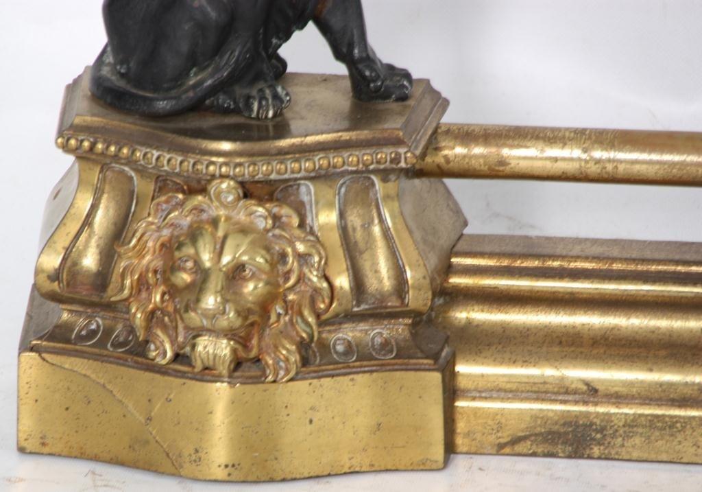 372: Figural Lion Fireplace Fender - 5
