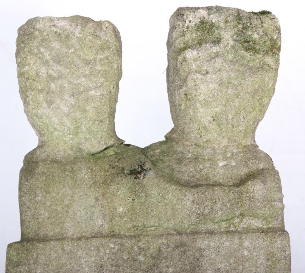 235: William Edmondson Double Sculpture - 10
