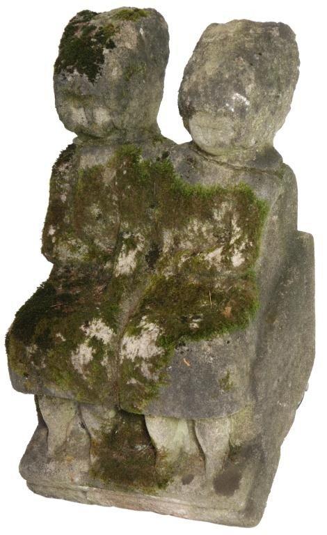 235: William Edmondson Double Sculpture