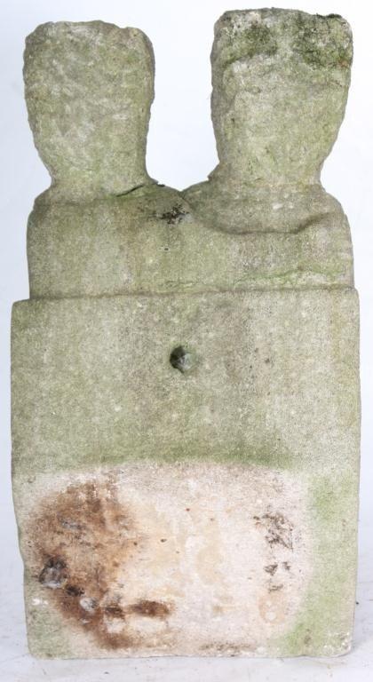 235: William Edmondson Double Sculpture - 9