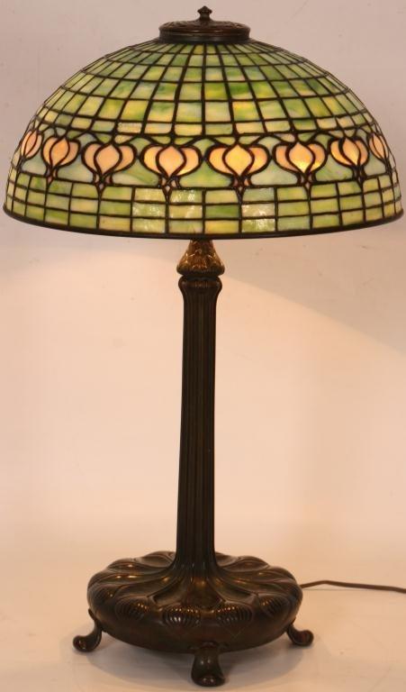 1: Tiffany Pomegranate Table Lamp - 2