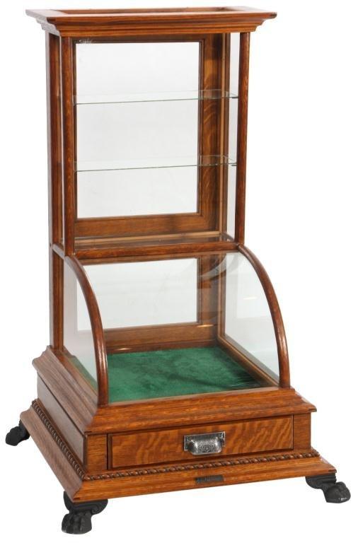 10: J.W. Winchester Oak Display Case