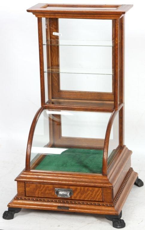 10: J.W. Winchester Oak Display Case - 2